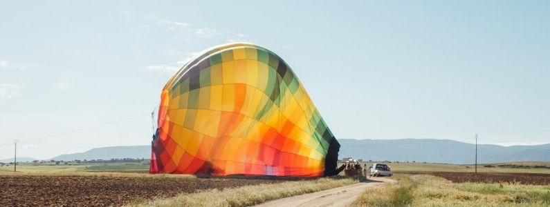 Luchtballon zonder positiviteit sta je vast aan de grond